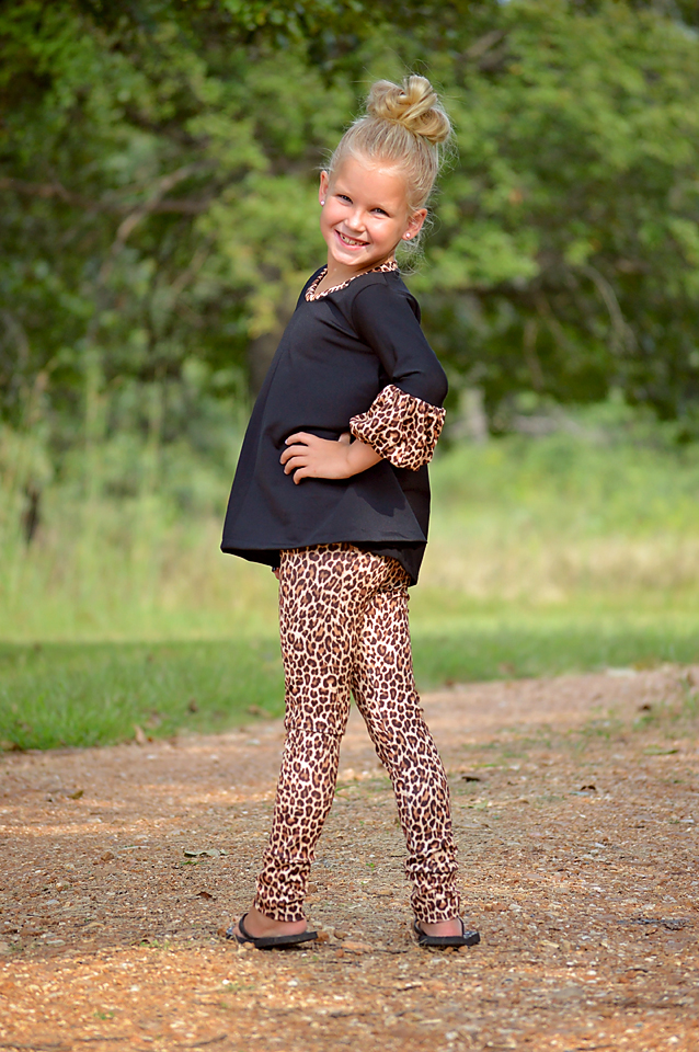 Priscilla's Ruched or Cuffed Leggings Sizes 6/12m to 15/16 Kids PDF Pattern