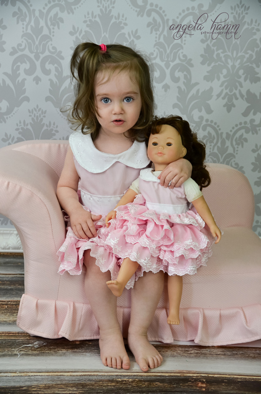 Blanche's Frilly Top and Dress Sizes NB to 8 Kids and Dolls PDF Pattern