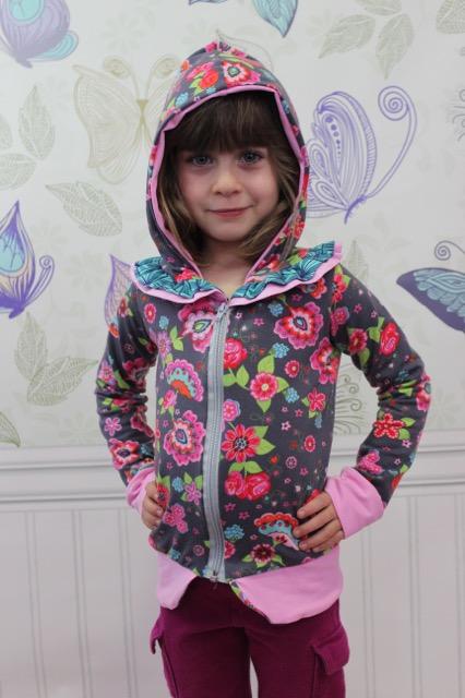 Raven's Ruffle Zip-Up Hoodie Sizes 6/12m to 8 Kids PDF Pattern