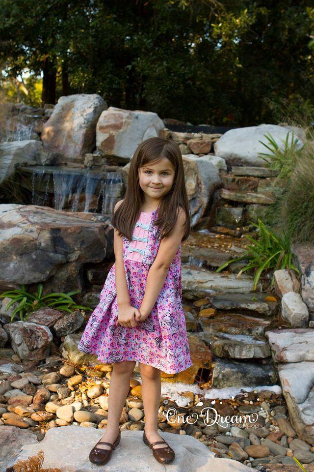 Samantha's Knotted Party Dress Sizes 6/12m to 8 Kids PDF Pattern