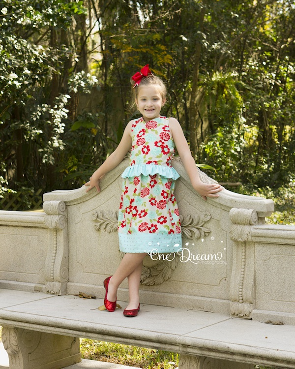 Anniston's Fitted Criss-Cross Back Dress Sizes 6/12m to 15/16 Kids PDF Pattern