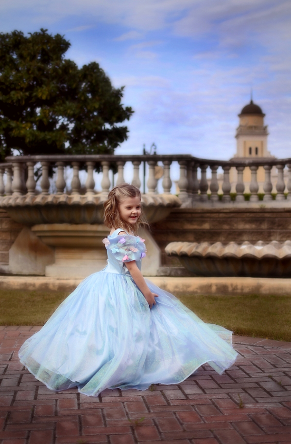Elora's Enchanted Princess Dress Sizes 6/12m to 15/16 Kids and Dolls PDF Pattern