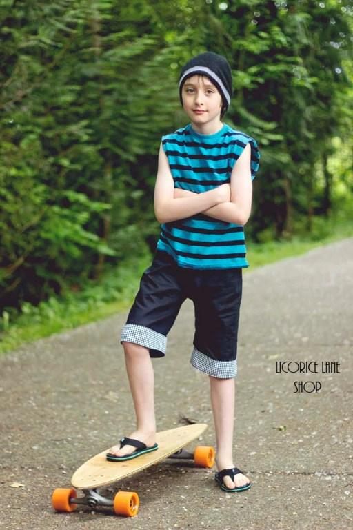 Jakob's Cuffed Shorts Sizes NB to 15/16 Kids PDF Pattern