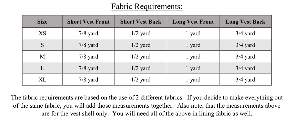 Bebe's Fitted Vest Sizes XS to XL Adults PDF Pattern