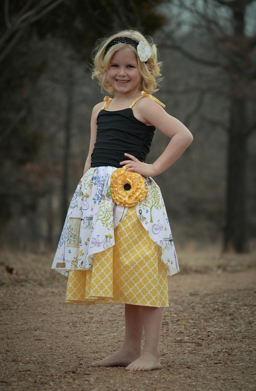 Annie's Cascade Ruffle Dress Sizes 6/12m to 8 Kids PDF Pattern