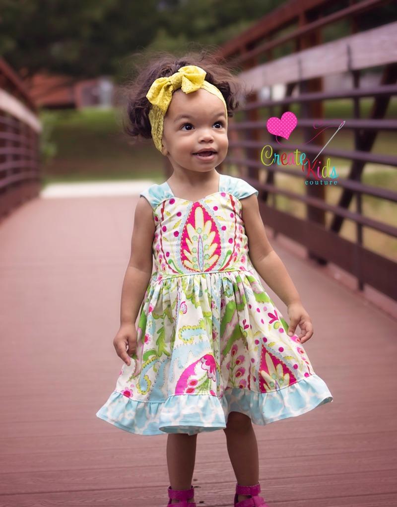 Larkin's Fancy Party Dress Sizes NB to 15/16 Kids and Dolls PDF Pattern