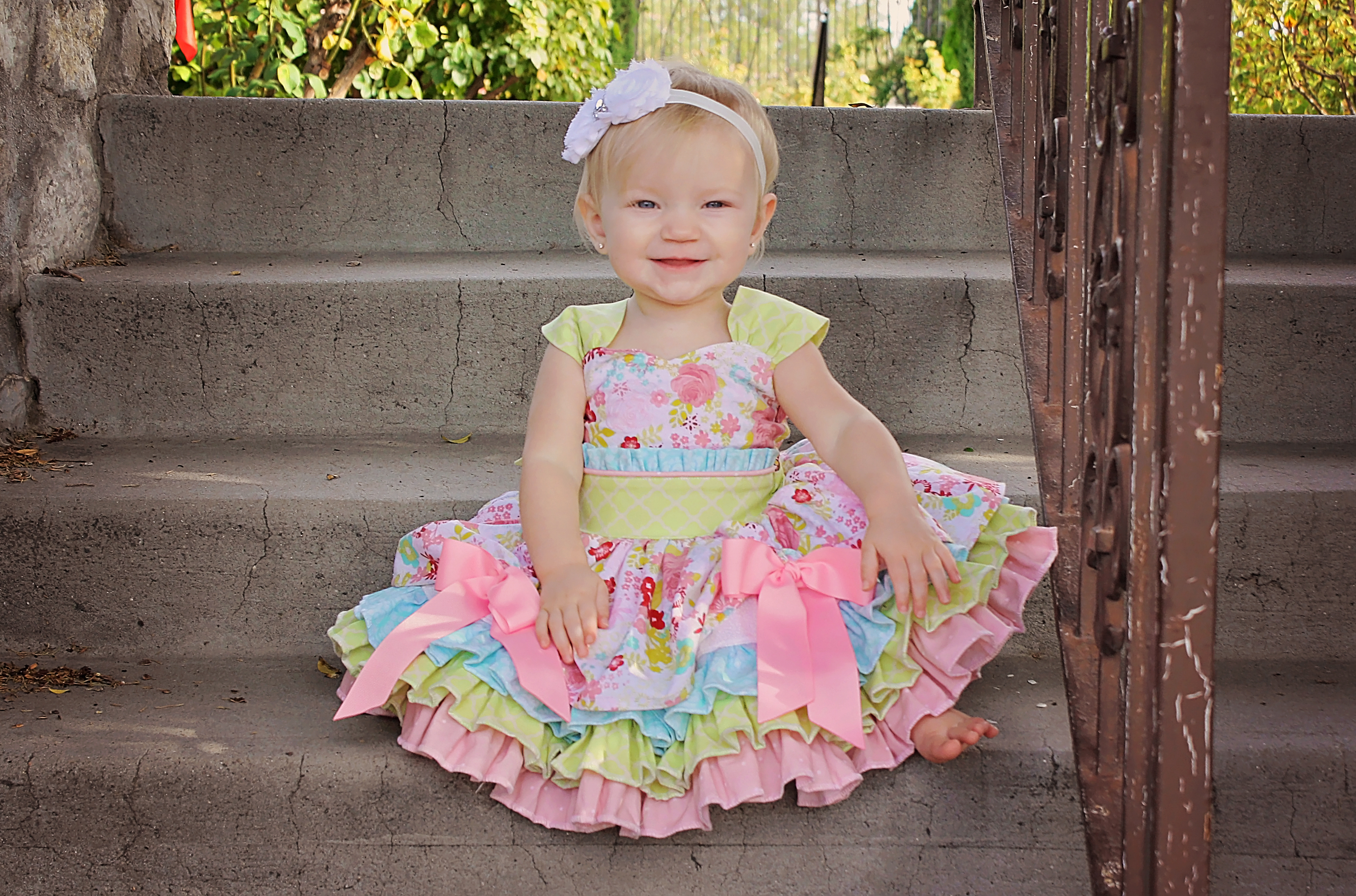 Larkin's Fancy Party Dress Sizes NB to 15/16 Kids and Dolls PDF Pattern