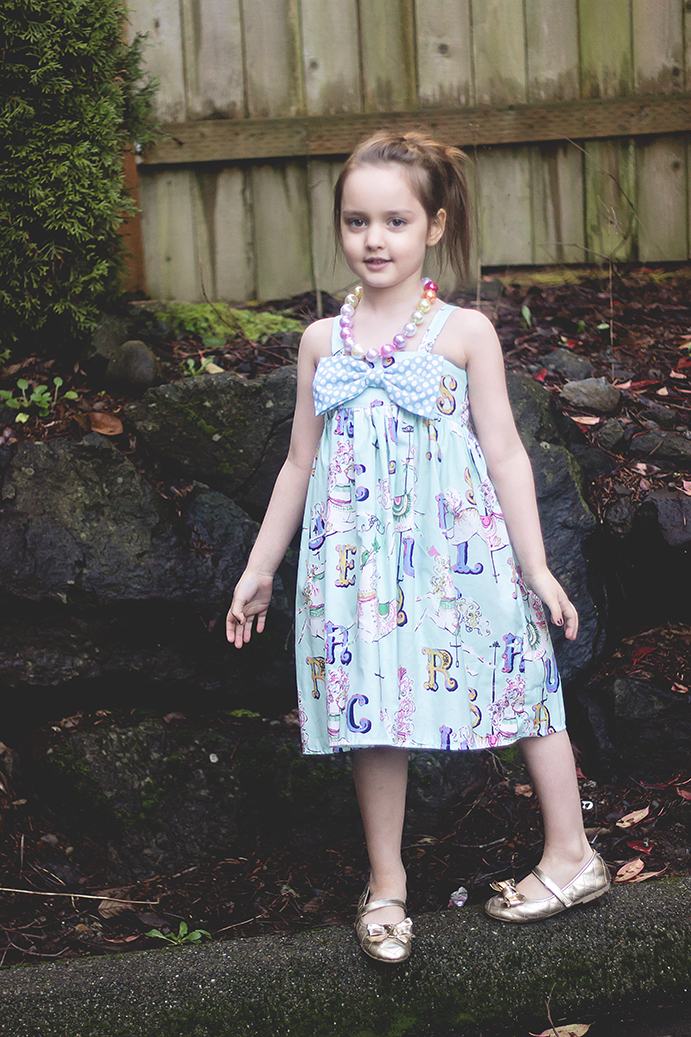 Hattie's Simple Bow Top, Dress, and Maxi Sizes NB to 15/16 Kids and Doll PDF Pattern