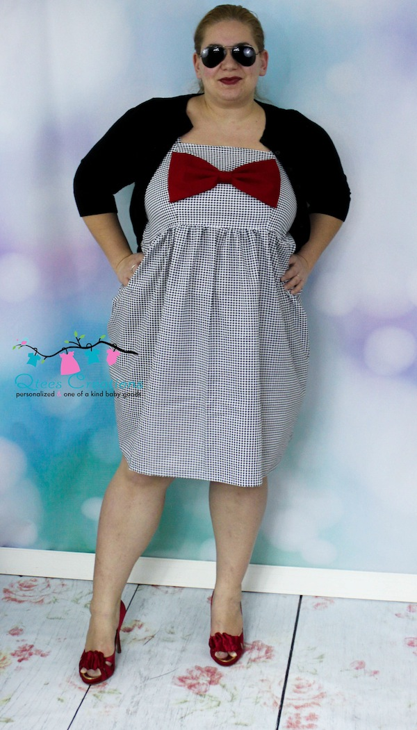 Hattie's Simple Bow Top, Dress, and Maxi Sizes XS to XL Adults PDF Pattern