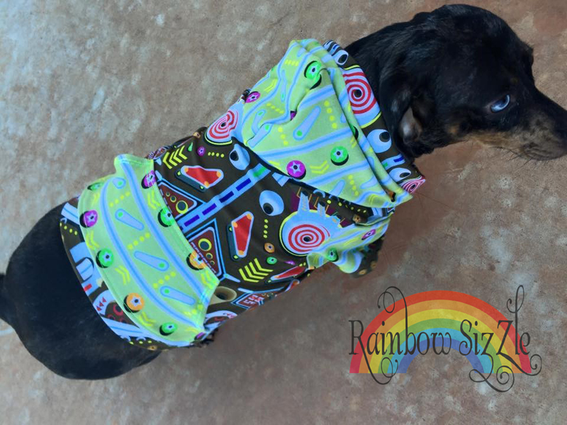 Toby's Hooded T-Shirt for Small Breed Dogs Dogs PDF Pattern