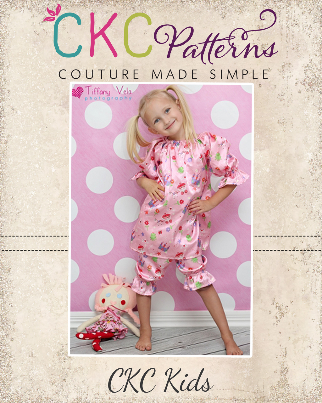 Abby's Night Gown and Bloomers Set Sizes 6/12m to 15/16 Kids and Dolls  PDF Pattern