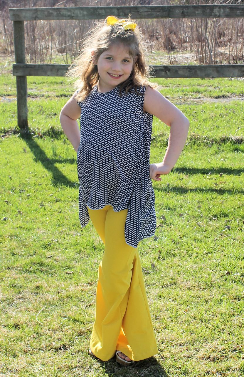Charity's Swing, Hi-low and Handkerchief Top Sizes 6/12m to 15/16 Kids PDF Pattern