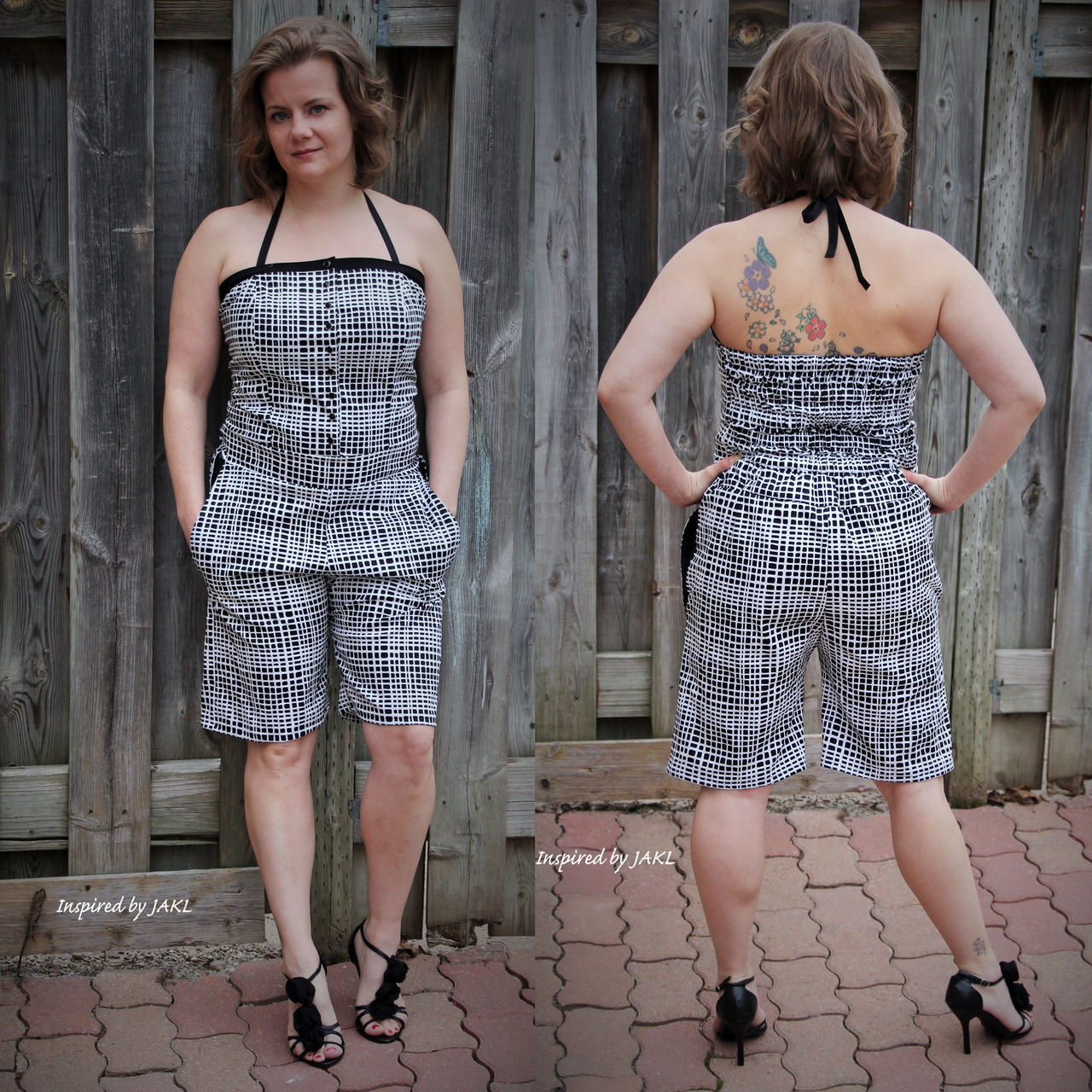 Thelma's Fitted Romper Sizes XS to XL Adults PDF Pattern