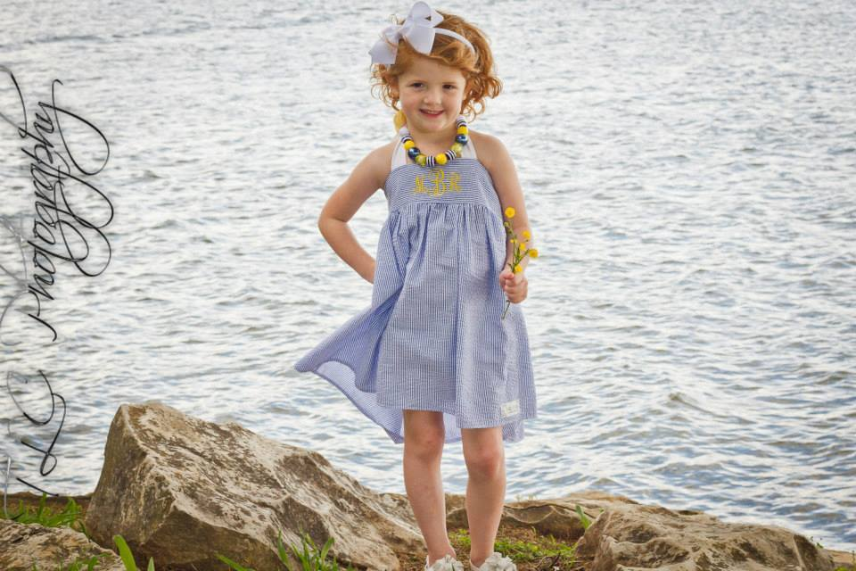 Amber's Simple Halter Top and Dress Sizes 6/12m to 15/16 Kids and Dolls PDF Pattern