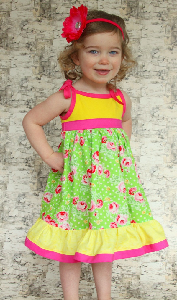 Ainsley's Tiered Knit Tank Dress and Tunic Sizes 6/12m to 8 Kids PDF Pattern