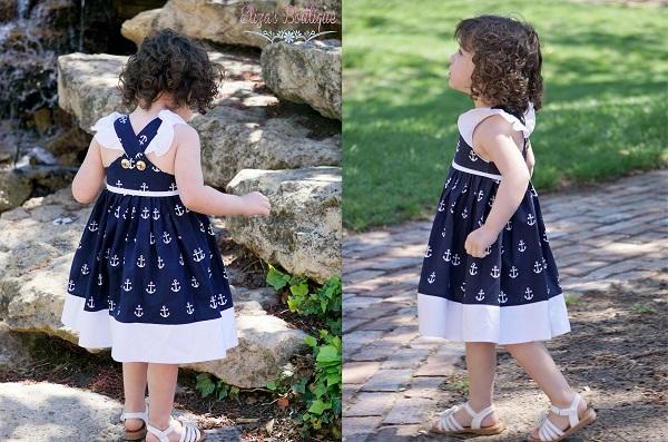 Nadia's Square Neck Dress Sizes NB  to 14 Kids PDF Pattern