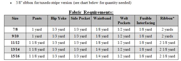 Patrick's Tween Dress Pants PDF Pattern