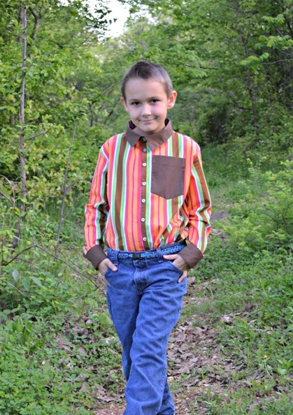Eric's Tween Dress Shirt PDF Pattern