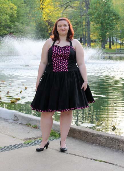 Betty's Women's Fifties Dress Sizes XS to 5X Adults PDF Pattern