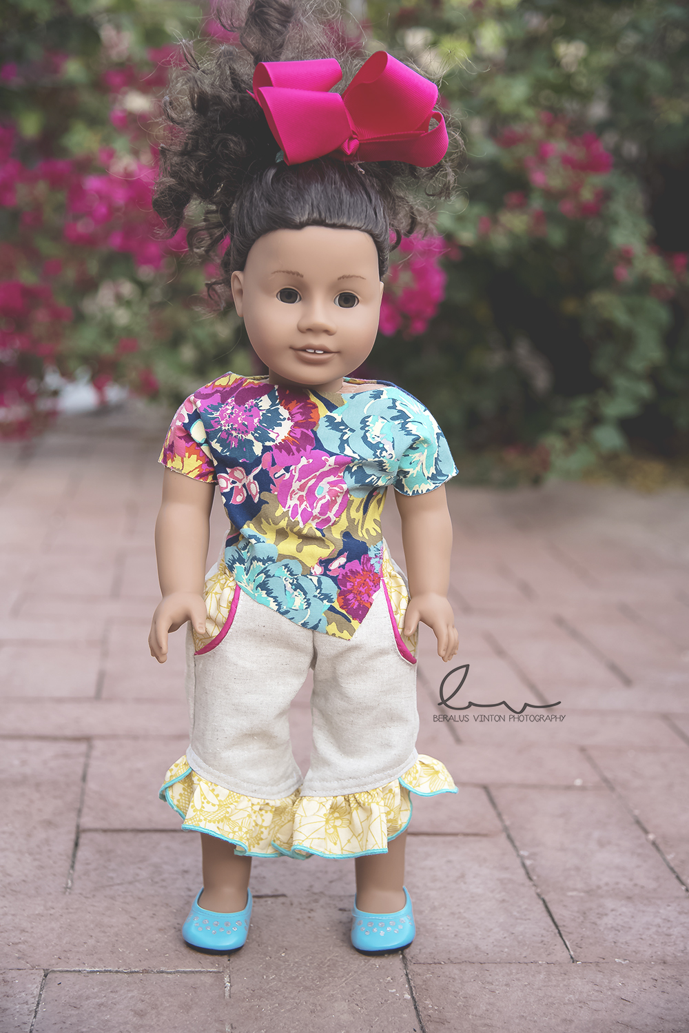 Neve's Crop Top T‐Shirt Sizes 6/12m to 15/16 Kids and Dolls PDF Pattern