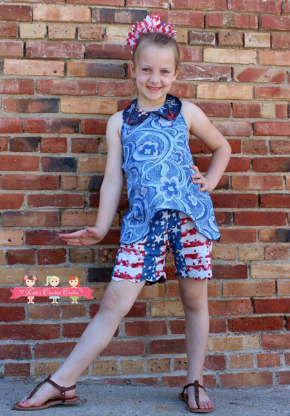 Madeline's Reversible Scalloped Shorties Sizes 6/12m to 15/16 Kids PDF Pattern