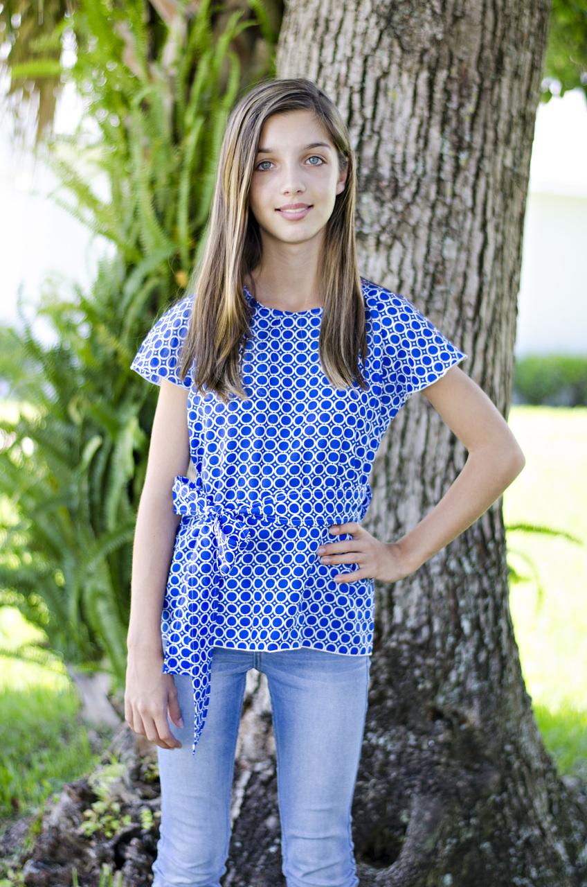 Danika's One-Piece Top and Dress Sizes 6/12m to 15/16 Kids PDF Pattern