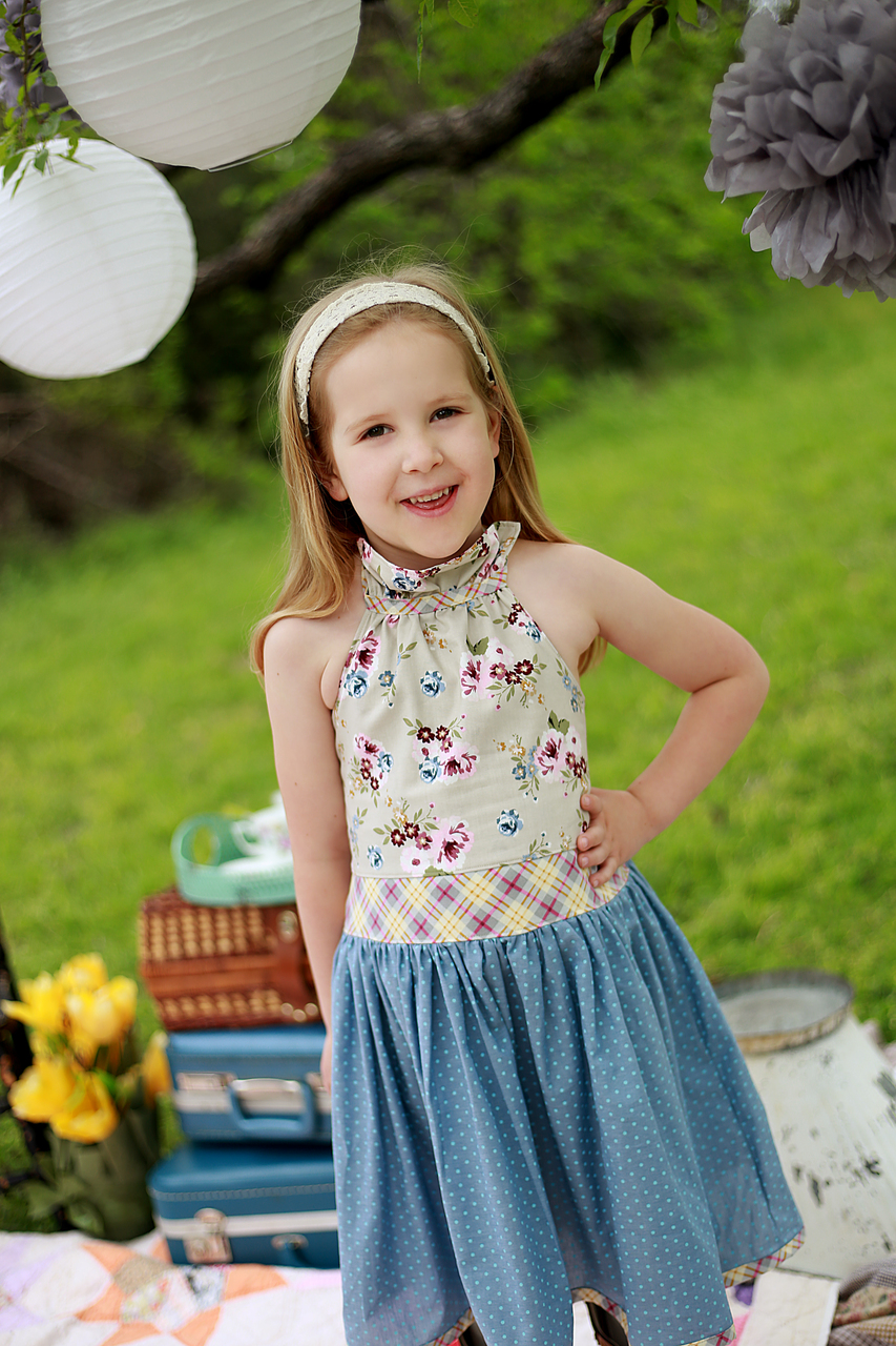 Rosetta's Ruffle Neck Dress and Top Sizes 6/12m to 15/16 Kids and Dolls PDF Pattern