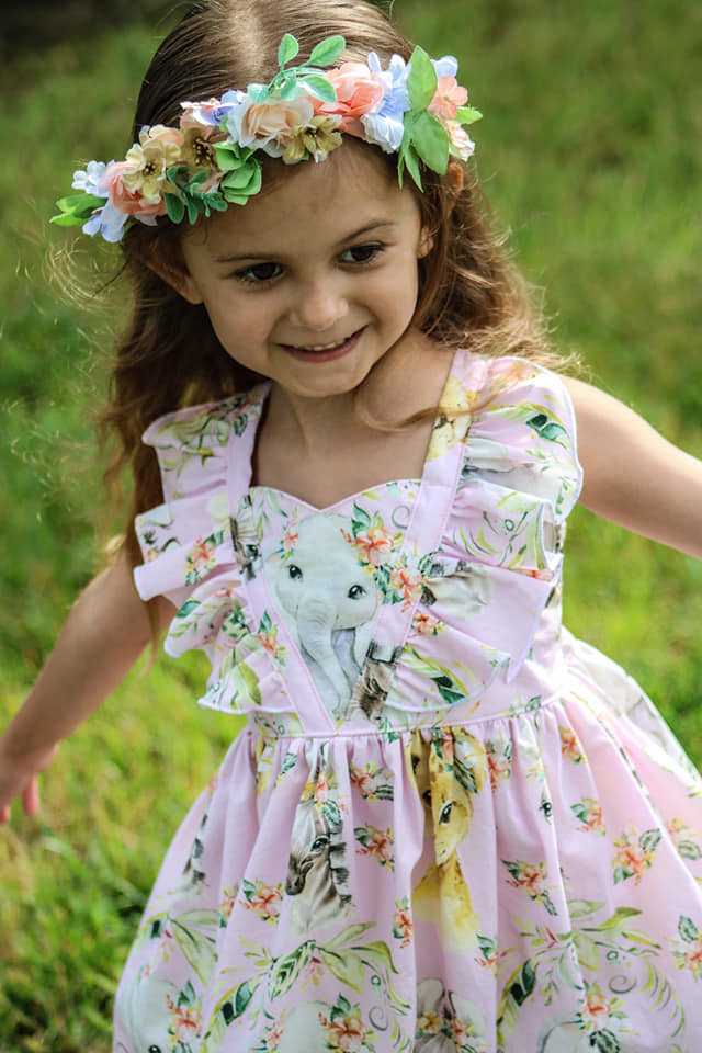 Loretta's V-Neck Ruffle Top, Dress and Maxi Sizes NB to 15/16 Kids and Dolls PDF Pattern