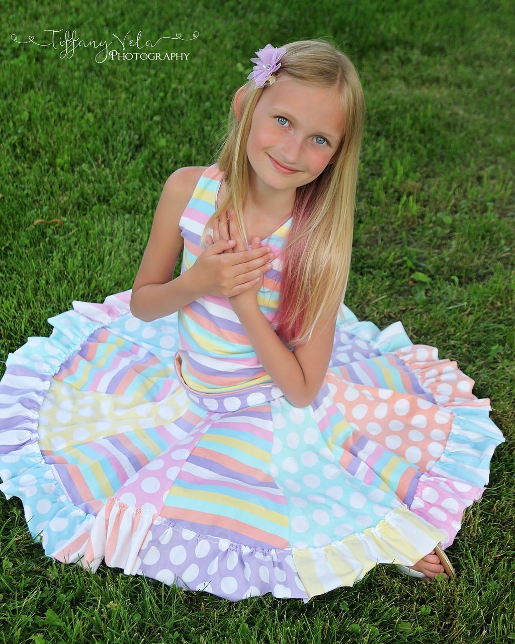 Aylah's Knit Twirly Skirt Sizes 6/12m to 8 Kids PDF Pattern