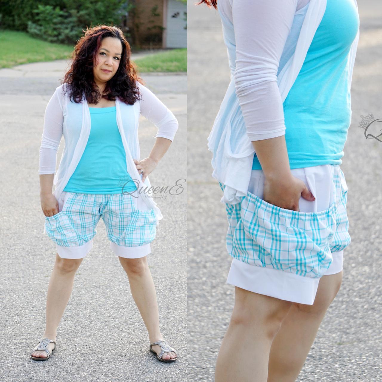 Brenna's Bubble Pocket Shorts Sizes XS to XL Adults PDF Pattern