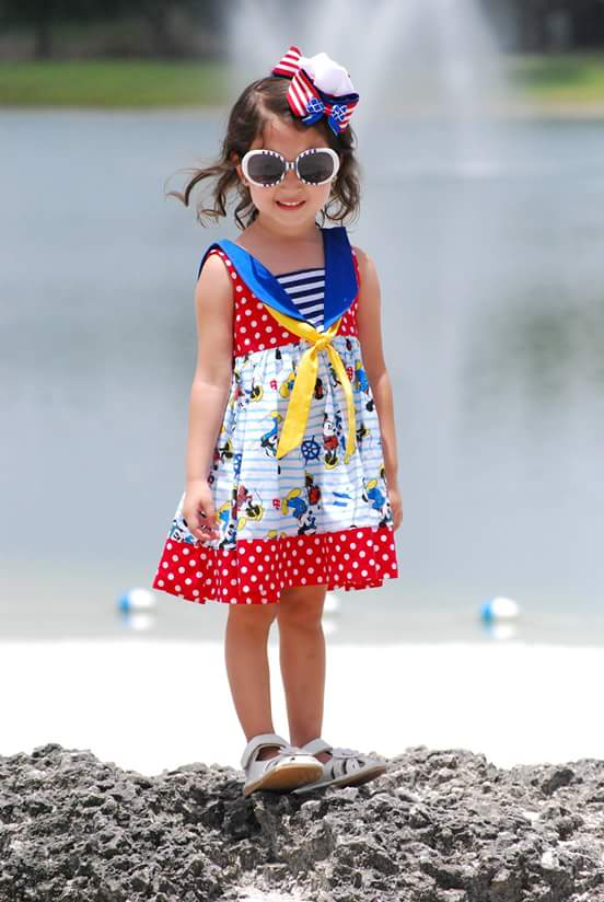 Sybil's Sailor Dress & Top Sizes 6/12m to 8 Kids PDF Pattern