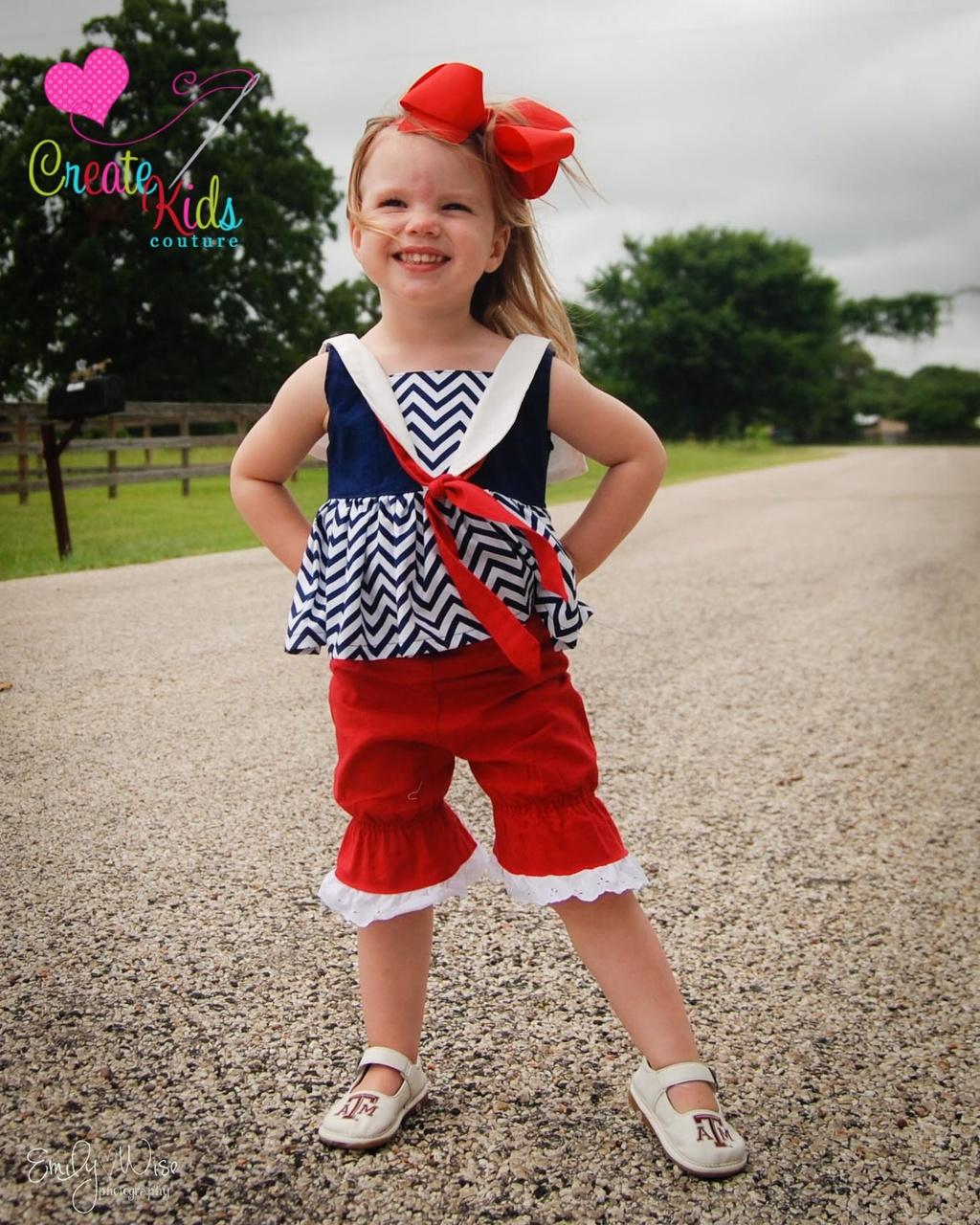 Sybil's Sailor Dress & Top Sizes 6/12m to 8 Kids PDF Pattern
