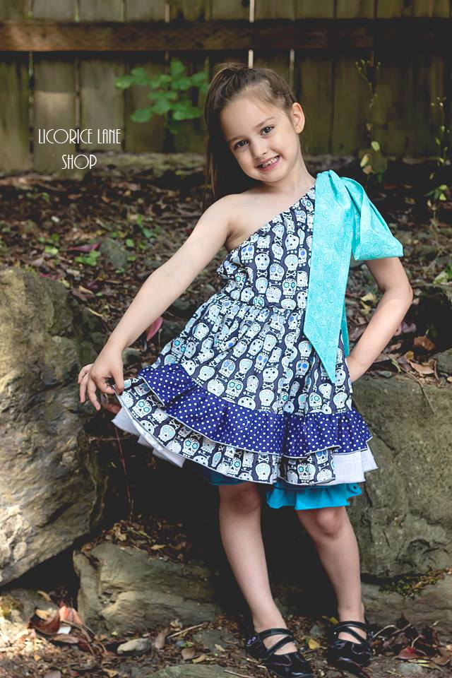 Aria's One Shoulder Top, Dress, and Maxi Sizes NB to 15/16 Kids and Dolls PDF Pattern