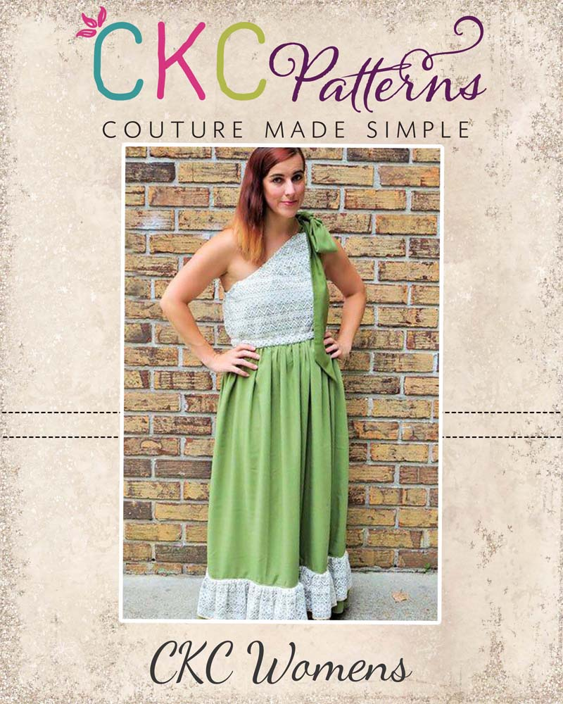 Aria's One Shoulder Top, Dress, and Maxi Sizes XS to XL Adults PDF Pattern