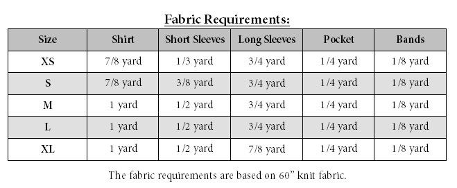 Zach's  V-Neck Ringer Tee Sizes XS to XL Adults PDF Pattern