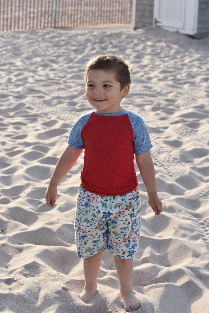 Alex's Rash Guard Tee Sizes 2T to 14 Kids PDF Pattern