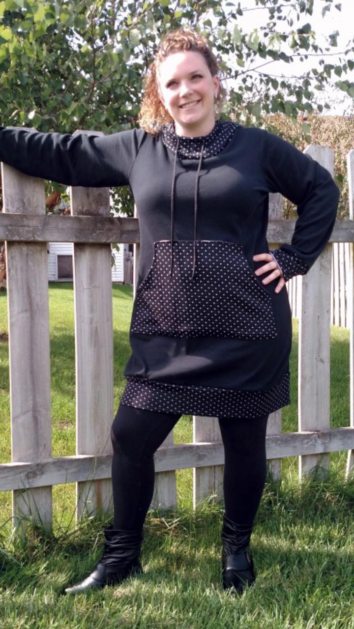 Haven's Hoodie Dress Sizes XS to 5X Adults PDF Pattern