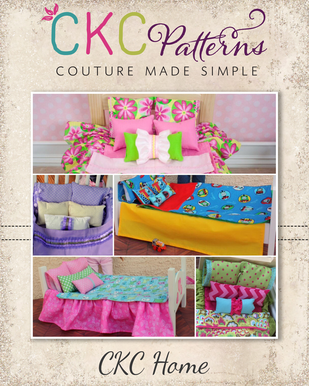 "Selena's 18"" Doll Bedding Set PDF Pattern"