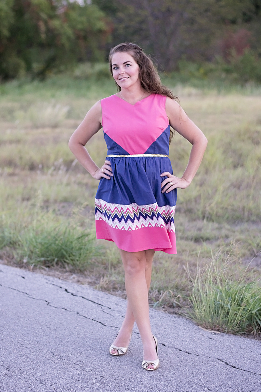 Maggie's Perfect Color Block Dress and Tunic Sizes XS to XL Adults PDF Pattern
