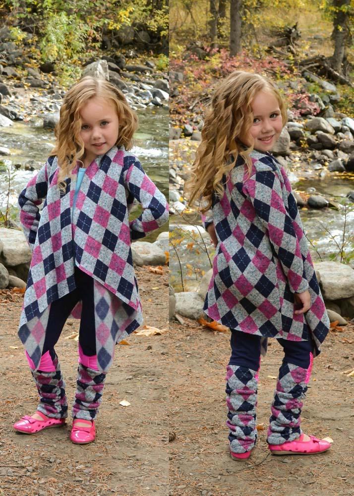 Chantelle's Knit Waterfall Infinity Cardigan Sizes 6/12m to 15/16 Kids PDF Pattern