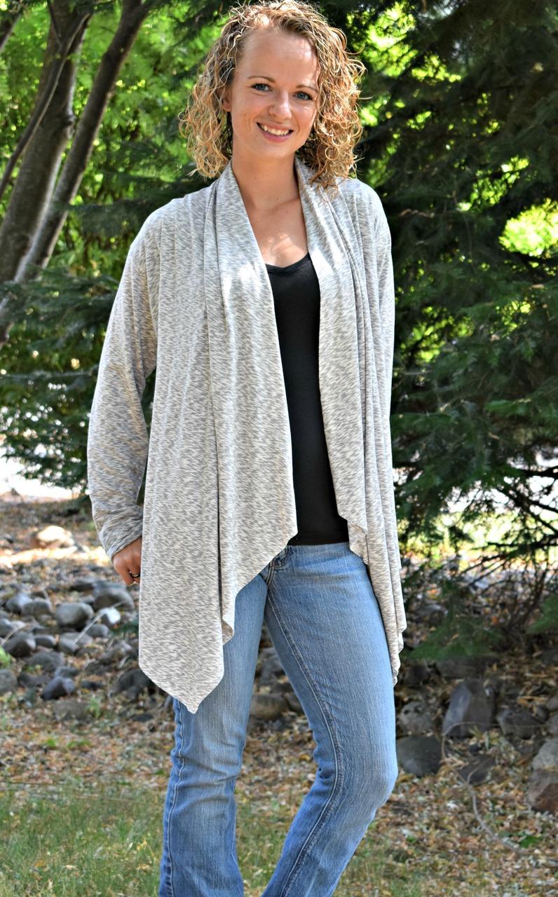 Chantelle's Knit Waterfall Infinity Cardigan Sizes XS to 5X Adults PDF Pattern