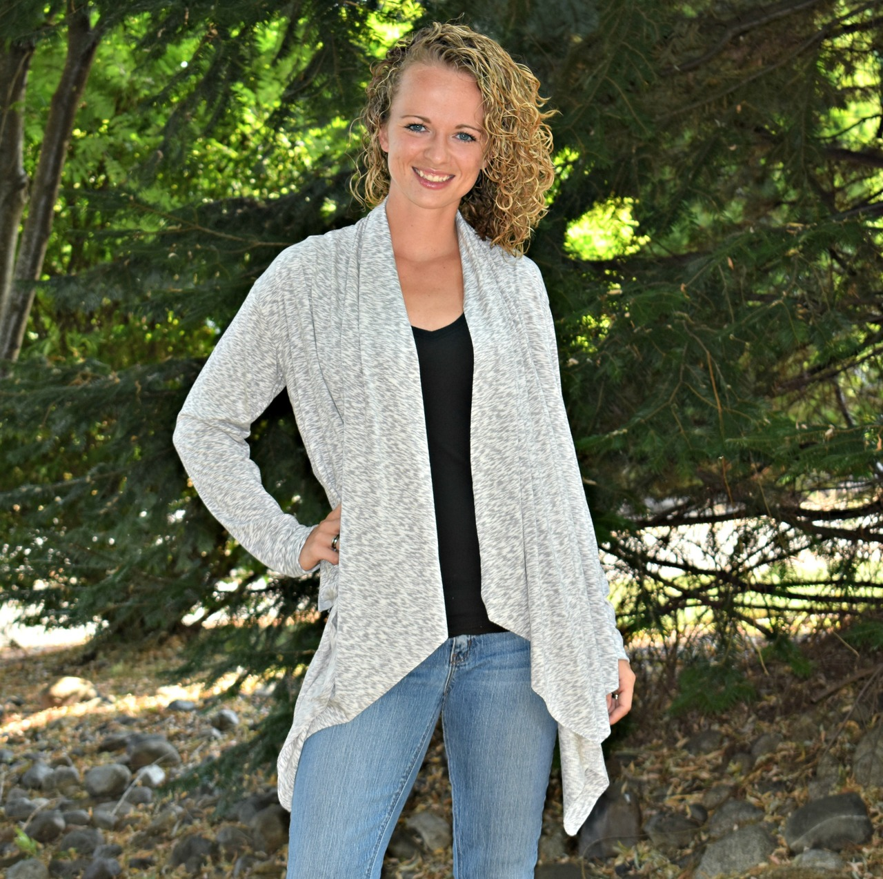 Chantelle's Knit Waterfall Infinity Cardigan Sizes XS to 5X Adults PDF Pattern