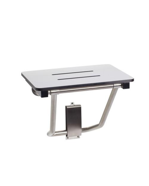 "Seachrome Bench Style 30"" x 15"" Shower Seat Naugahyde White - SSB-300150 NW"