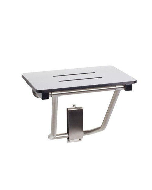 "Seachrome Bench Style 32"" x 15"" Shower Seat Naugahyde White - SSB-320150 NW"