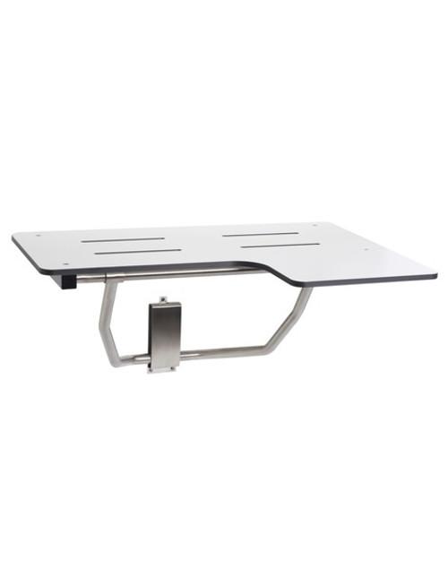 "Reversible L-Shaped Shower Transfer Seat by Seachrome | 26"" x 22.5"" | Phenolic White | SLR-260225 PWS"