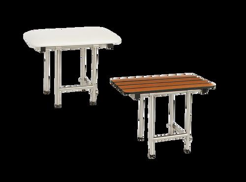 Seachrome Signature Series Naugahyde Padded Bench Shower Seat with Legs SSB2-240150-NW