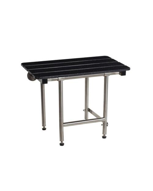 "Seachrome Bench Style 28"" x 15"" Shower Seat   Swing Down Legs   SSB2-280150"