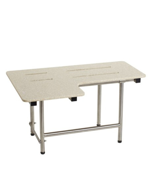 Seachrome | L-Shaped | 26 x 22.5 | Shower Transfer Seat w/ Legs | Phenolic | SLR2-260225