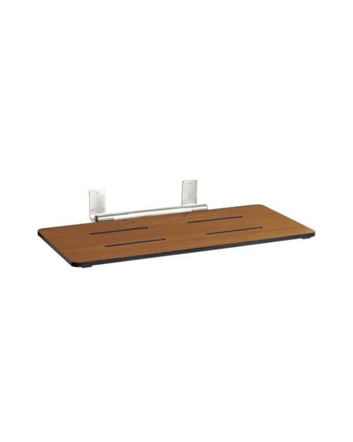 "Seachrome Rear-Hung 29"" x 16.5"" Folding Bathtub Seat | Bench | Frameless - STR-290165"