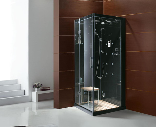 "Steam Planet M-6023 Personal Steam Shower Contemporary Series - 35"" x 35"" x 86"" w/ Stone Base 